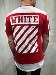 😜Чоловіча футболка OFF WHITE х Balenciaga червона, фото 2