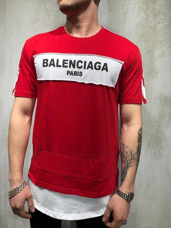 😜Чоловіча футболка OFF WHITE х Balenciaga червона
