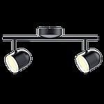 Спотовый светодиодный светильник (бра) MAXUS MSL-01C 2x4W 4100K Черный, фото 2
