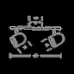 Спотовый светодиодный светильник (бра) MAXUS MSL-01C 2x4W 4100K Черный, фото 3