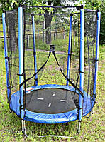 Батут SkyJump на пружинах 140 см с сеткой