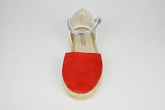 Босоножки замшевые красные Pilar Monet 24151, фото 3