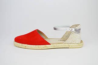 Босоножки замшевые красные Pilar Monet 24151, фото 2