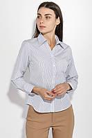 Рубашка женская офисная 287V001-2 (Бело-синий)