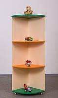 Стеллаж для игрушек угловой элемент высокий