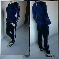 Спортивный костюм демарго велюровый синий  S 42-44