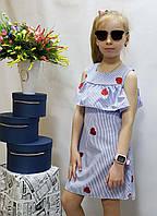 Стильное платье для девочки  код 629  лето , размеры на рост от 122 до 140 возраст от 6 до 10 лет
