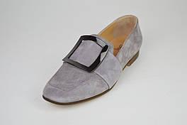 Туфли женские замшевые серые Lottini 471080