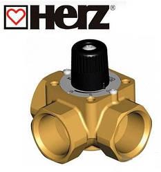 Трехходовой смесительно-распределительный кран HERZ 2137 с ручкой DN50