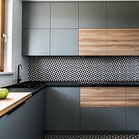 Кухня на заказ фасад дсп Италия + серая матовая покраска Blum furniture , фото 1