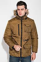 Куртка мужская удлиненная 181V001 (Темно-горчичный)