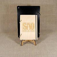 Скетчбук Sword Art Online. Блокнот с деревянной обложкой.