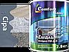 Фарба Сіра ПФ-115 для деревини та металу Комфорт, 2,8 кг.