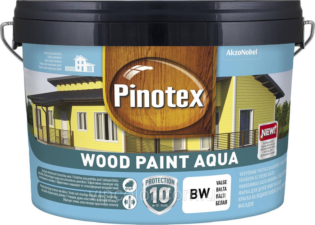 PINOTEX WOOD PAINT AQUA тонир.база ВС 8,37л полуматовая краска для деревянных фасадов
