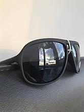 Очки черные матовые с широкой линзой №2