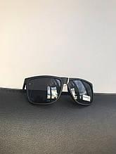 Очки черные матовые с широкой линзой №1