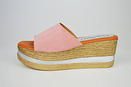 Шлепанцы на платформе розовые Pilar Monet 24091