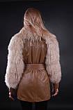 Кожаная утепленная куртка с мехом ламы, фото 3