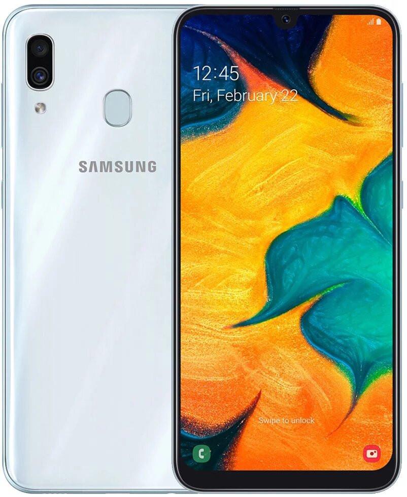 Сенсорный мобильный телефон Samsung A30 A305F White 32GB
