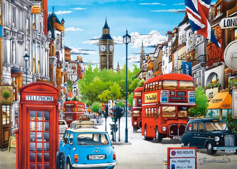 Пазлы  Улочки Лондона 1500 элементов
