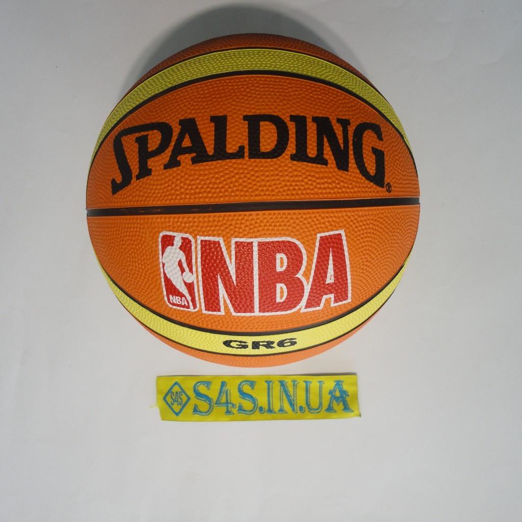 Баскетбольный мяч для баскетбола резиновый Spalding коричневый, размер 6, полоса. РЕПЛИКА