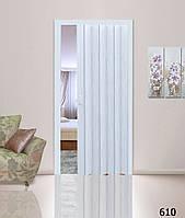 Дверь гармошка. Цвет: белое дерево №610 2030мм/1000мм/10мм