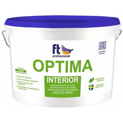 Краска латексная для стен и потолков 1л. FT Professional Optima Interior, фото 2