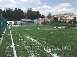 Монтаж спортивного газона с разметкой, фото 2
