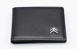 Кожаная обложка для прав Carrs с логотипом CITROEN Premium черная