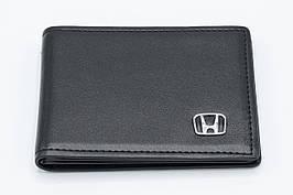 Кожаная обложка для прав Carrs с логотипом HONDA Premium черная