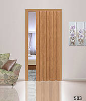 Дверь гармошкой глухая. Цвет: бук №503 2030мм/1000мм/6мм