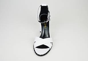 Босоножки белые кожаные Nivelle 1895, фото 3