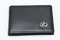 Кожаная обложка для прав Carrs с логотипом LEXUS Premium черная