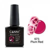 Акварельный гель-лак  пурпурный CANNI №673, фото 1