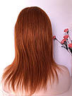 🔥 Яркий оранжевый огненного цвета парик, из натуральных волос 🔥, фото 7