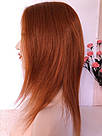 🔥 Яркий оранжевый огненного цвета парик, из натуральных волос 🔥, фото 8
