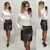 Женская юбка замша, фото 1