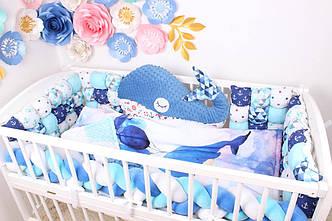 Комплект в кроватку Синий Кит