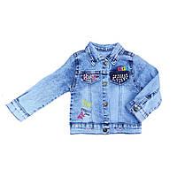Куртка для девочек джинсовая 2-5 лет, Турция, фото 1