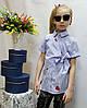 Летняя рубашка  для девочки  код 804 , размеры на рост от 122 до 140 возраст от 6 до 10 лет