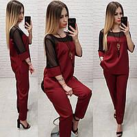Женский костюм  арт. 153 норма  бордовый