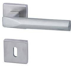 Итальянская дверная ручка Almar PYRAMIDE, никель матовый
