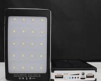 Павербанк Солнечная батарея SOLAR 50 000 Mah PowerBank (Паурбанк)и ЛЕД- фонарь портативное зарядное устройство