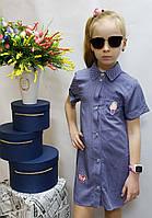 Стильное платье  для девочки  код 809 лето , размеры на рост от 128 до 146 возраст от 7 до 11 лет