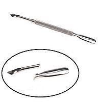 Пушер - топорик двухсторонний для кутикулы /лопатка / шабер металлический