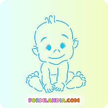 Трафарет + форма Малюк №3 - хлопчик