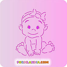 Трафарет + форма Малюк №3 - дівчинка