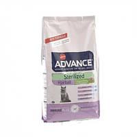 Сухой корм Advance Cat Sterilized Hairball для выведения шерсти у стерилизованных кошек, с индейкой 10 кг