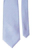 Галстук мужской яркая полоска 50PA0001 (Сине-сиреневый)