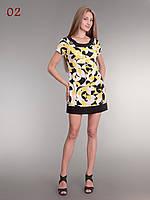 Платье туника трикотаж желтое, фото 1